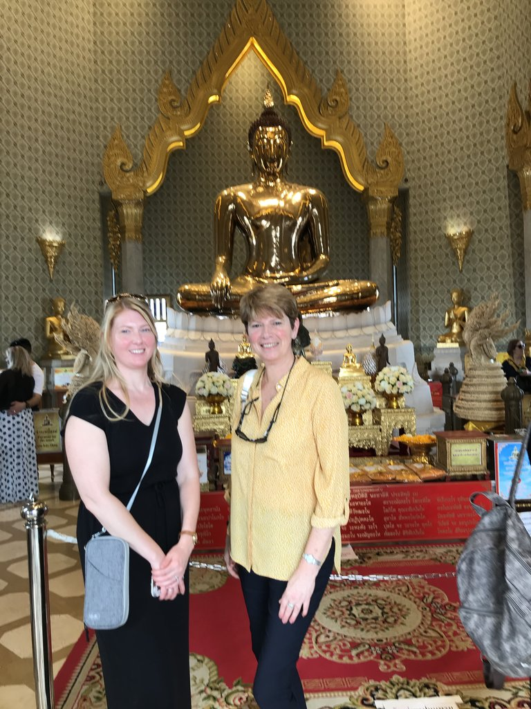 Visiting our first temple | Photo taken by Deborah B