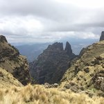 Hiking in Simien mountains | Photo taken by Janet S