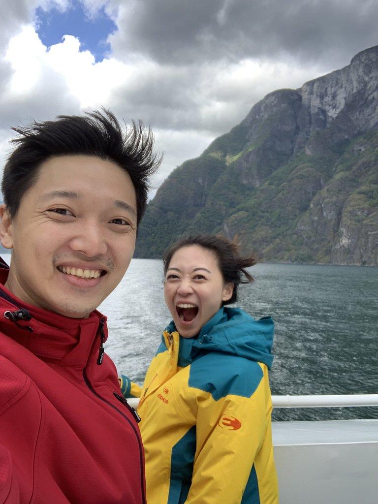 Ferry to Leikanger  | Photo taken by Jessica H