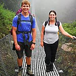 Starting the trek over a bridge | Photo taken by Herman L