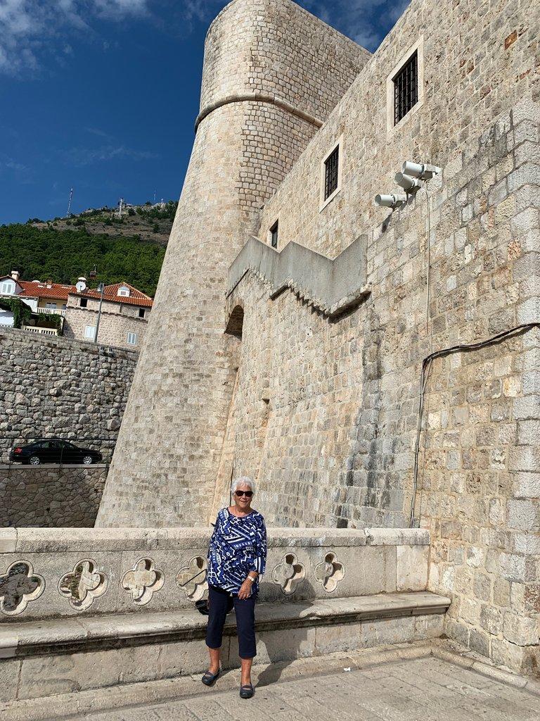Walking the walls of Dubrovnik | Photo taken by Eva W