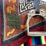 Saddle blanket and stirrup | Photo taken by Scott Brennan
