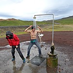 Geothermal Outdoor Shower | Photo taken by Otto S