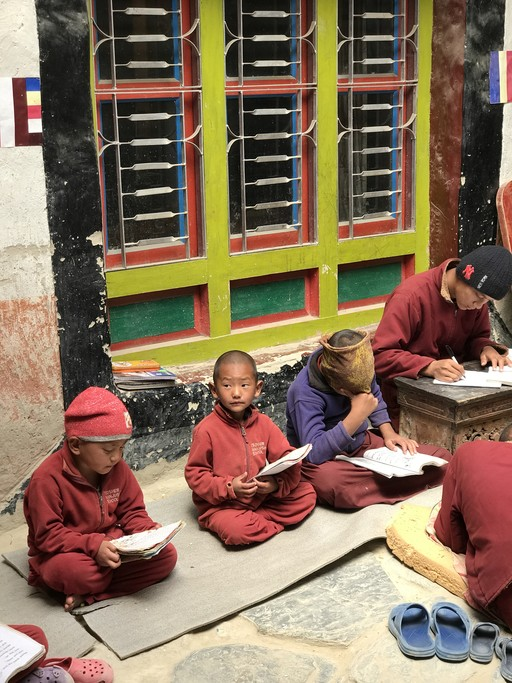 Child monk's school in Chossar Valley | Photo taken by Lisa D