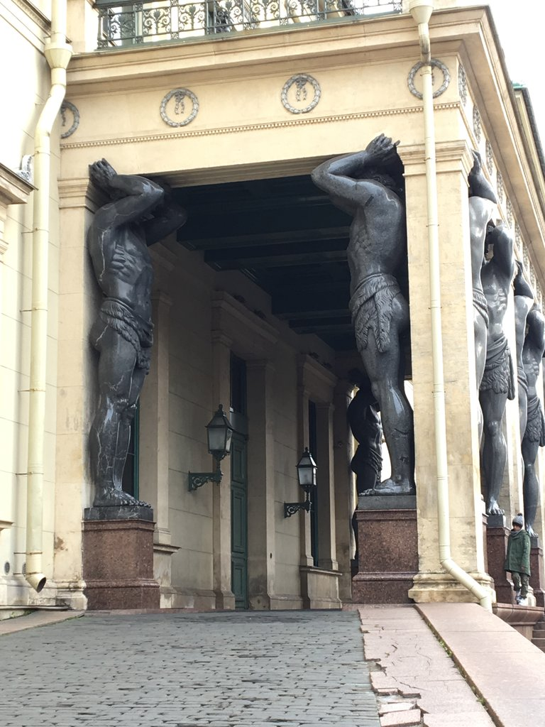 Enormous statues, Hermitage Museum | Photo taken by Diane P