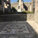 Pompeii mosaics | Photo taken by Molly B