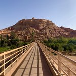 Across the bridge to the fortified village at Aït Benhaddou | Photo taken by Rod K