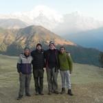 Job well done. Lhakpa, Jason, Wayne, Pasang. | Photo taken by Wayne P