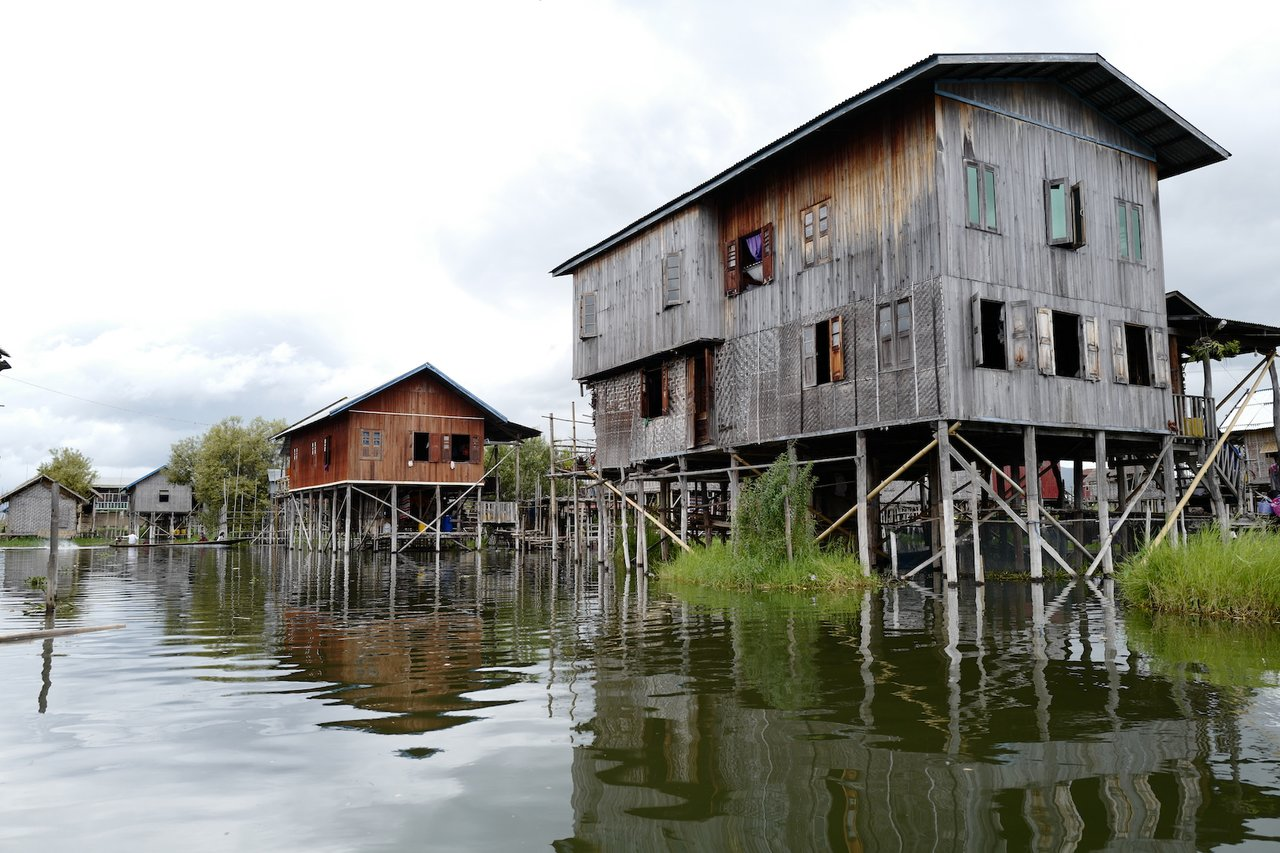 Inle Lake residences. Wonder how the postmen get about? | Photo taken by Su-Lin T