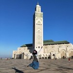 Jump of happiness at Hasan II mosque in Casablanca | Photo taken by Alif Nadya Inniar R