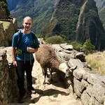Friendly llama, Macchu Picchu | Photo taken by Janice H