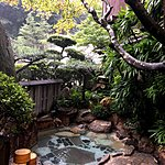 Outdoors Onsen at the Ryokan  | Photo taken by Joost S