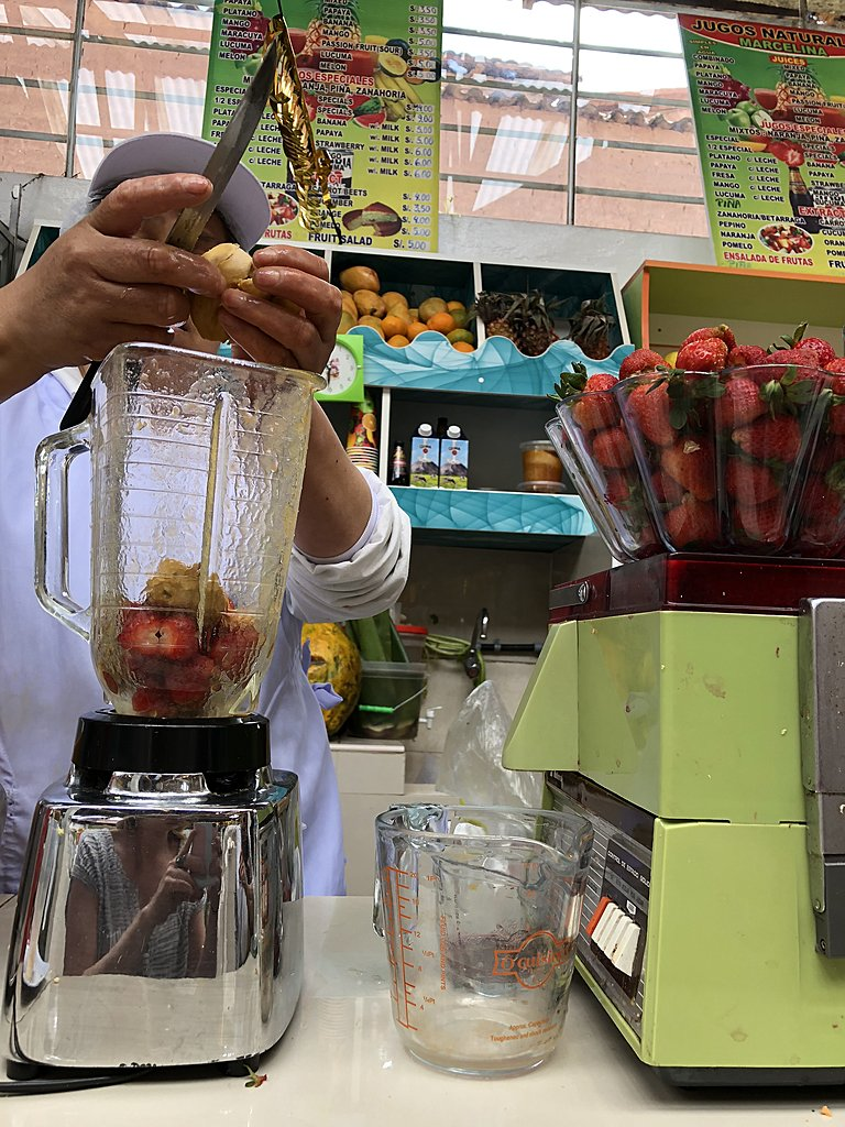 Stumbled upon a small market & had fresh smoothies and milkshakes!   Photo taken by Katie H