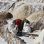 Worker at the salt mine | Photo taken by Kristin M