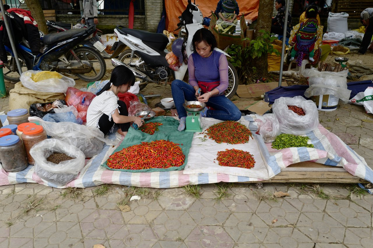 Chillis for sale!   Photo taken by Su-Lin T