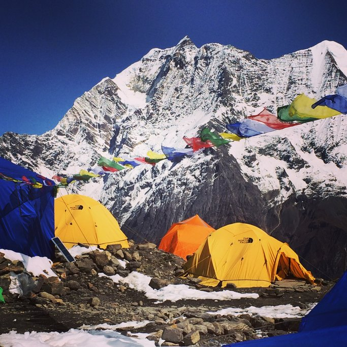 Manaslu base camp | Photo taken by Scott B