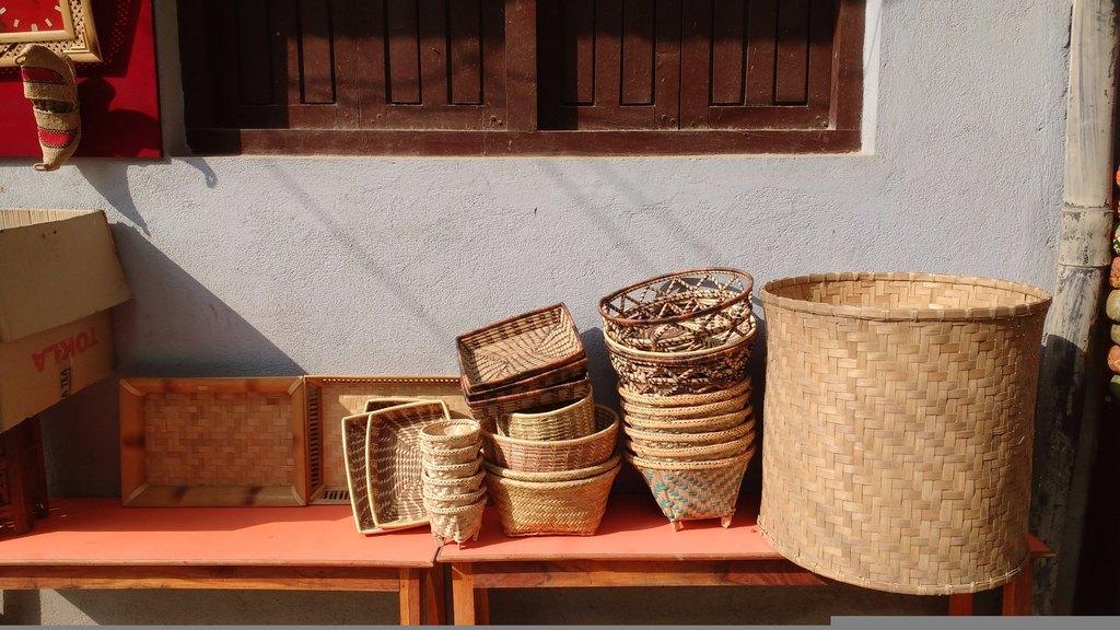 Baskets in Kathmandu | Photo taken by Dorine H