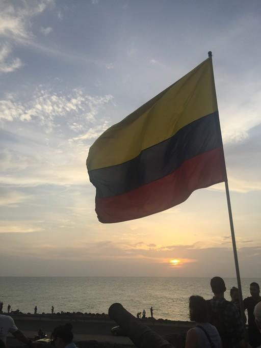 Watching the sunset in Cartagena | Photo taken by Ella W