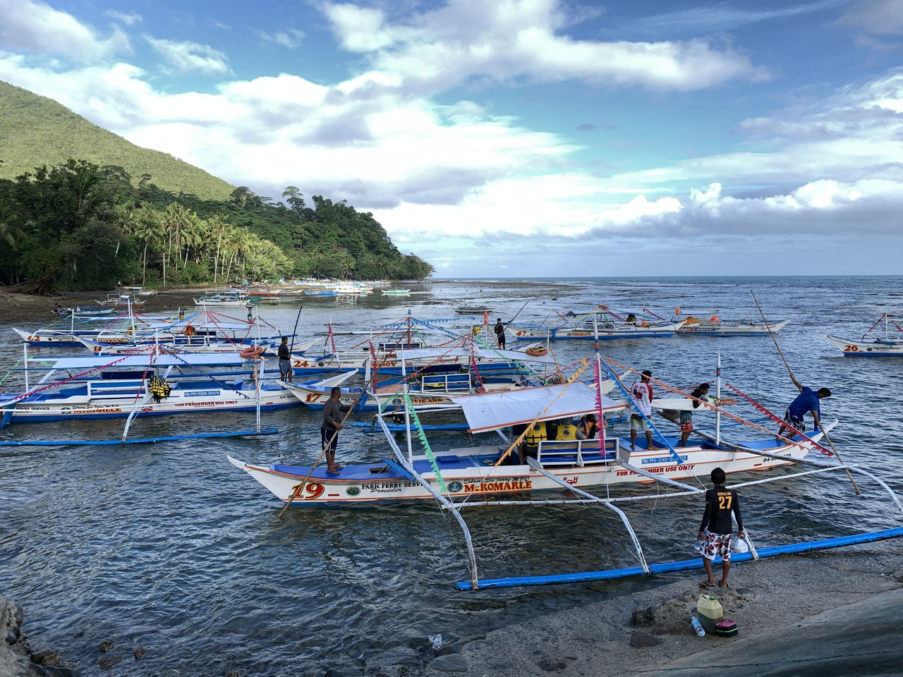 Outriggers by the jetty | Photo taken by Debajyoti R