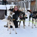 hanging out with the puppers after dog sledding | Photo taken by Cyndi P