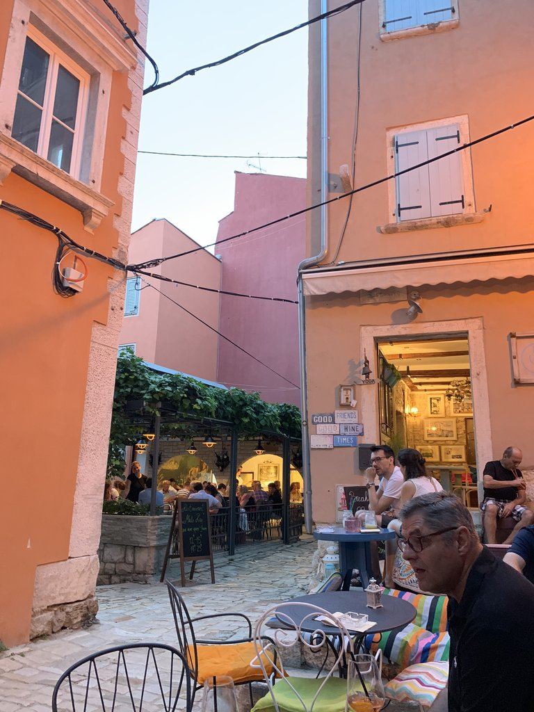 A hidden dinner spot in Rovinj | Photo taken by Stephen G