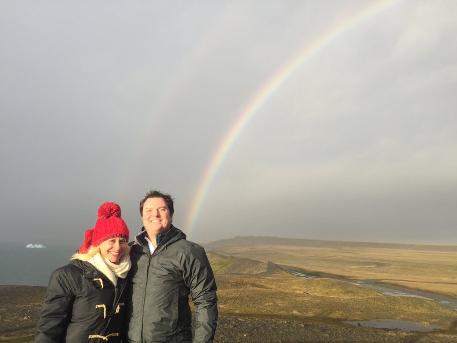 Rainbow at Jokulsarlon  | Photo taken by Marisa K
