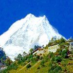Manaslu from Loh | Photo taken by Scott B