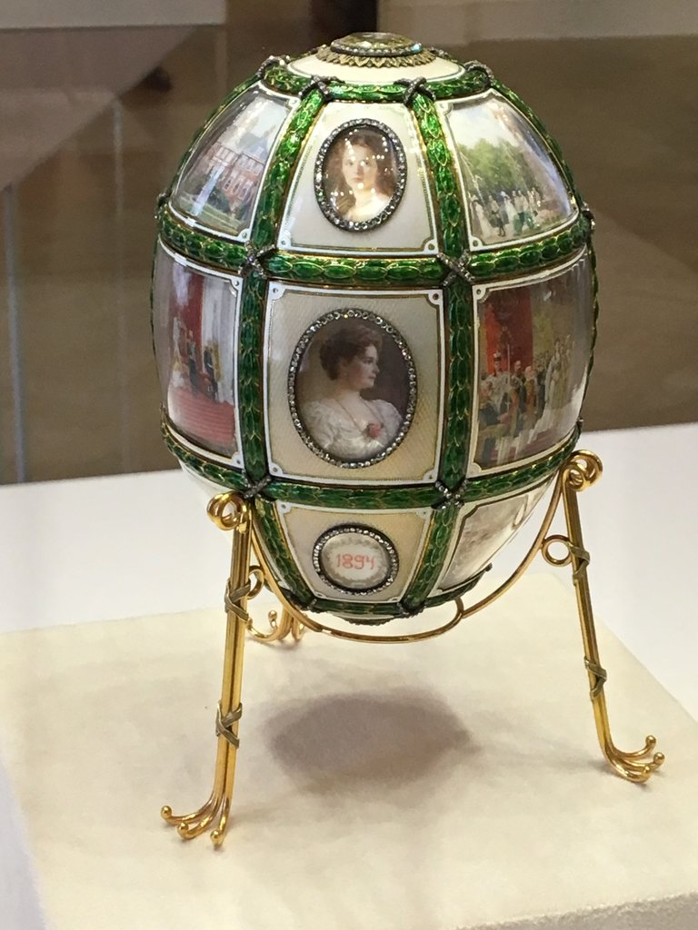 Just beautiful - so poignant. Pictures of all the Imperial family on this Faberge egg | Photo taken by Diane P