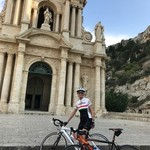 Scicli church with Sicily Bike Routes. | Photo taken by Teresa K