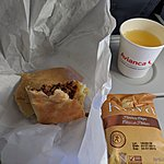 Plane meal | Photo taken by Jessica H