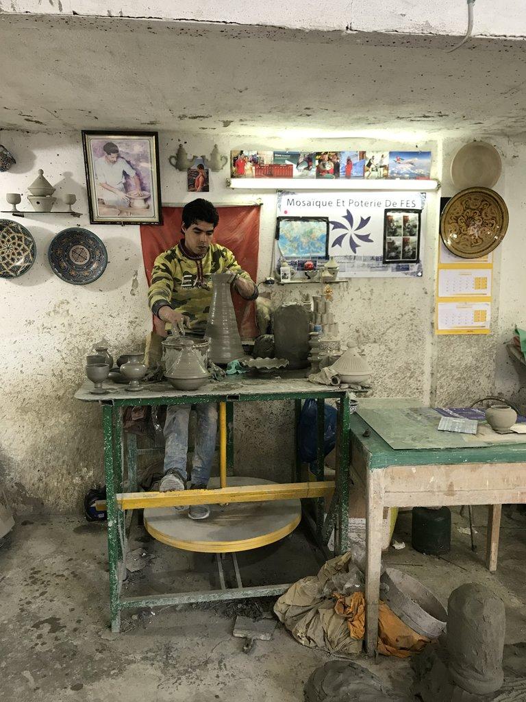 Pottery making   Photo taken by Chris M