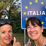 We hiked to Italy! | Photo taken by Cindy w