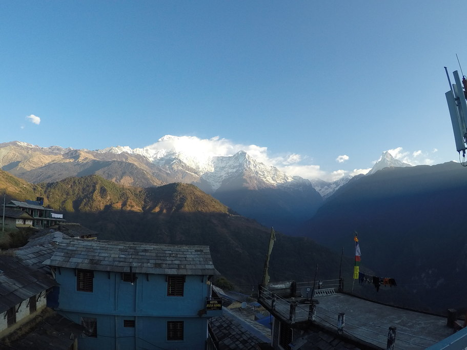 View from ghandruk | Photo taken by Margaret Y