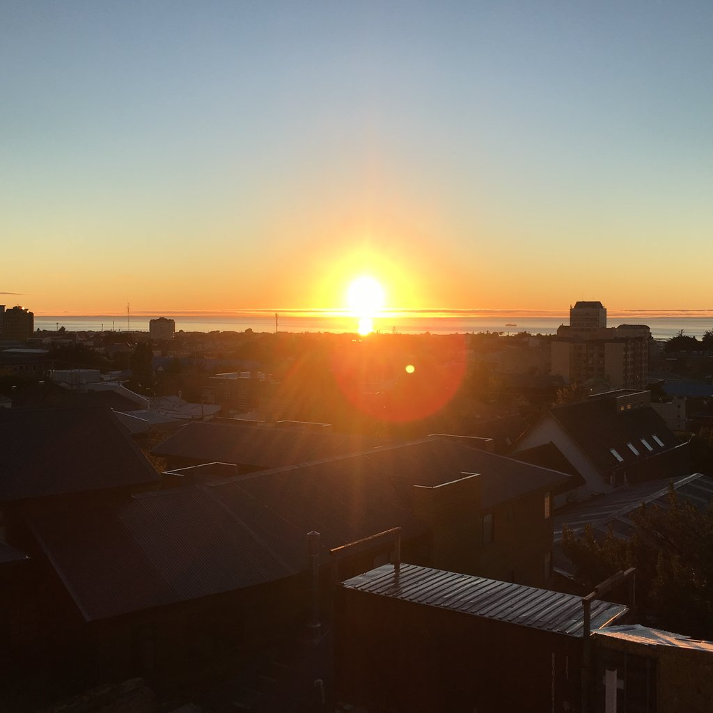 Sunset over the strait | Photo taken by Beth S
