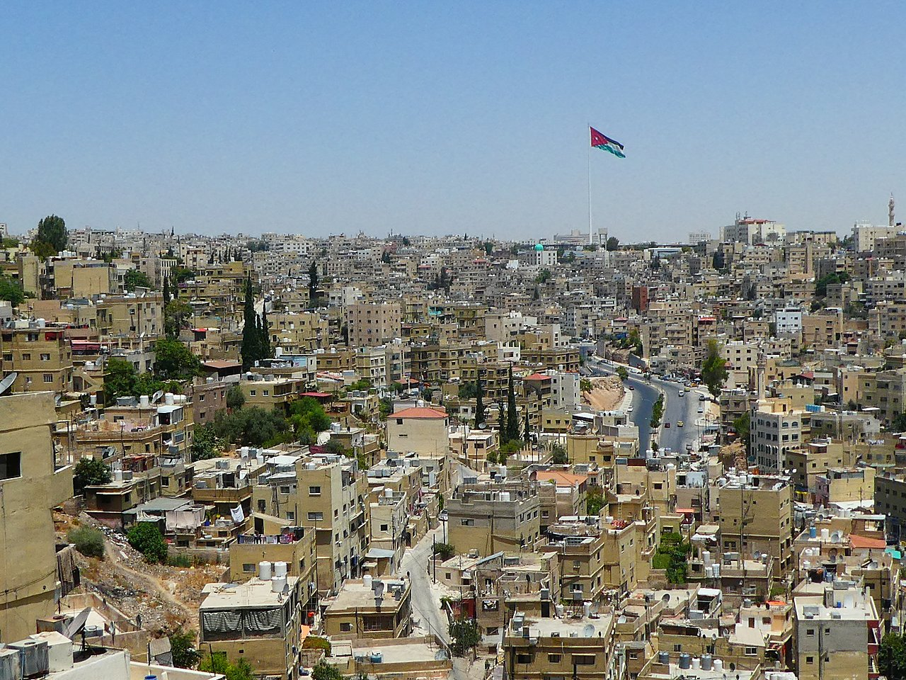 view across Amman | Photo taken by Sarah m