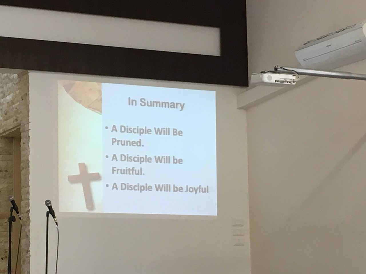 A good message on discipleship! | Photo taken by Linley V