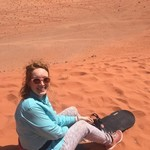 Sledding in Wadi Rum | Photo taken by Mary Elizabeth W