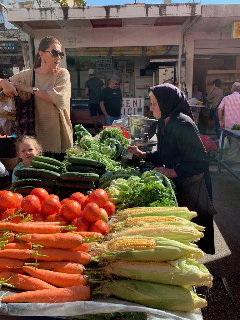 Produce market in Split | Photo taken by Eva W