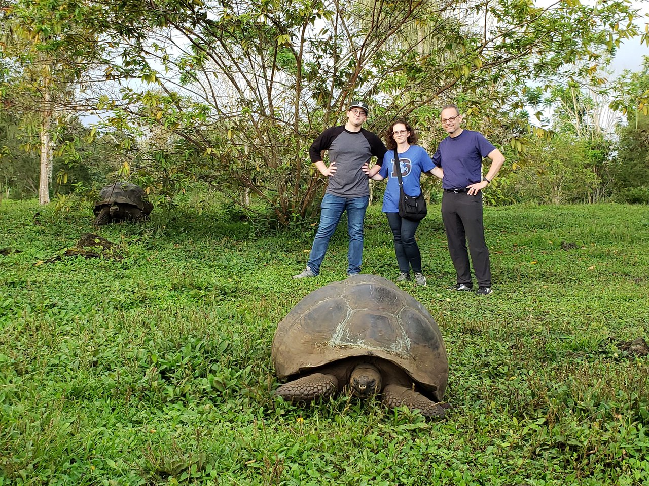 Just us and a giant tortoise | Photo taken by Peter S