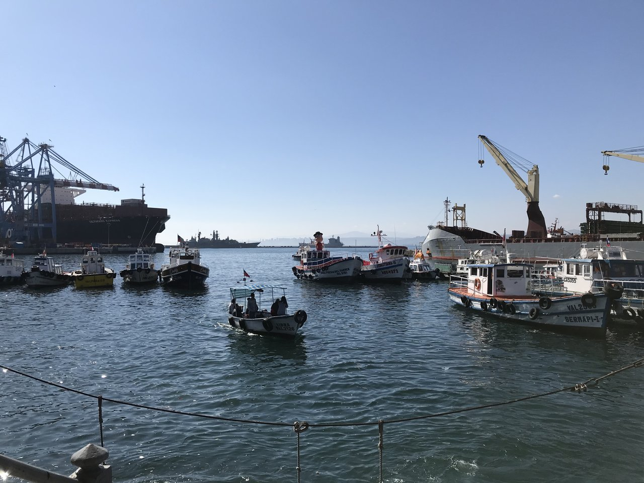 The harbor was bustling.   Photo taken by Lauri F