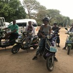Electric Biking in Bagan | Photo taken by Rand M