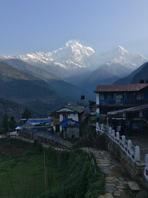 Annapurna South, view from Landruk | Photo taken by Peter A
