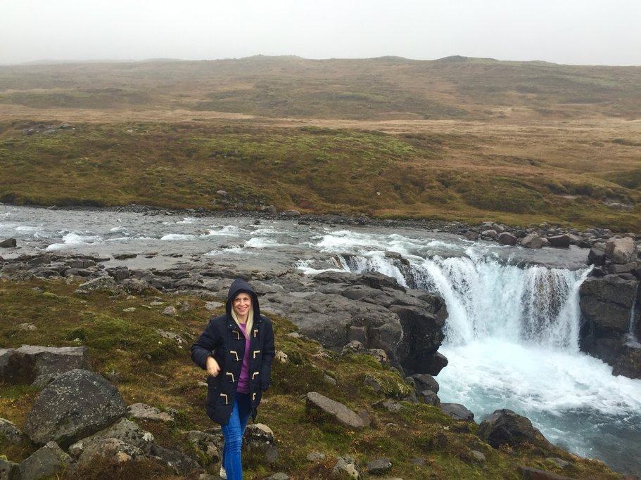 Random waterfall (among many) along the beautiful scenic drive   Photo taken by Marisa K