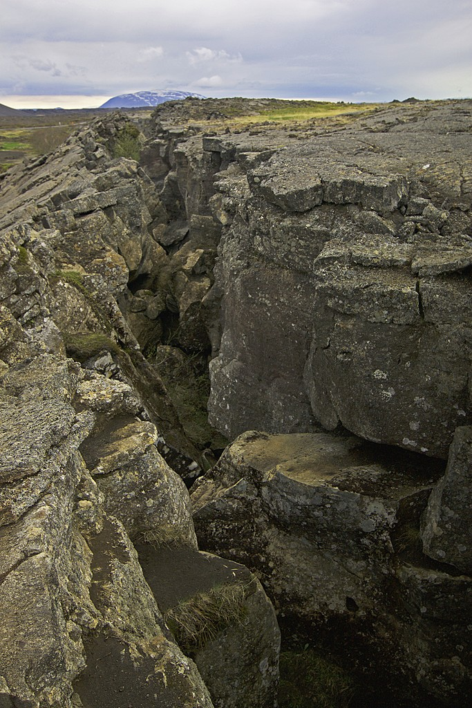 divide between continental plates | Photo taken by Kim C