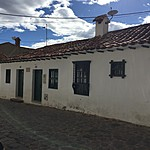 Front of our house in Villa de Leyva | Photo taken by David B