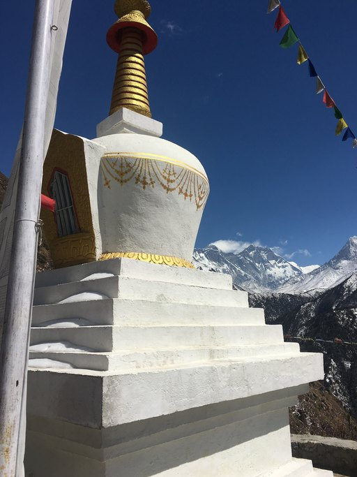 Stupa and Everest | Photo taken by Tony L