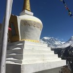 Stupa and Everest | Photo taken by Tony Longhurst