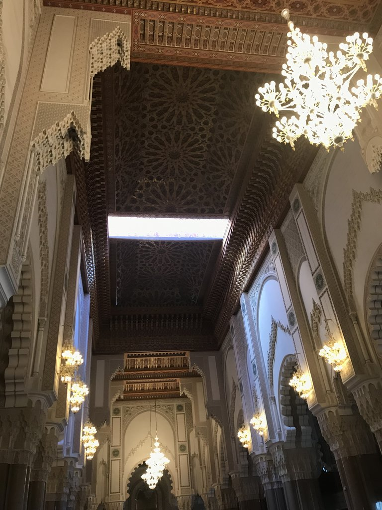 Sliding roof in Hassan II Mosque | Photo taken by Chris M