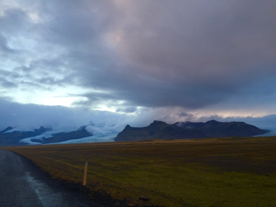 Giant glacier in the distance  | Photo taken by Marisa K