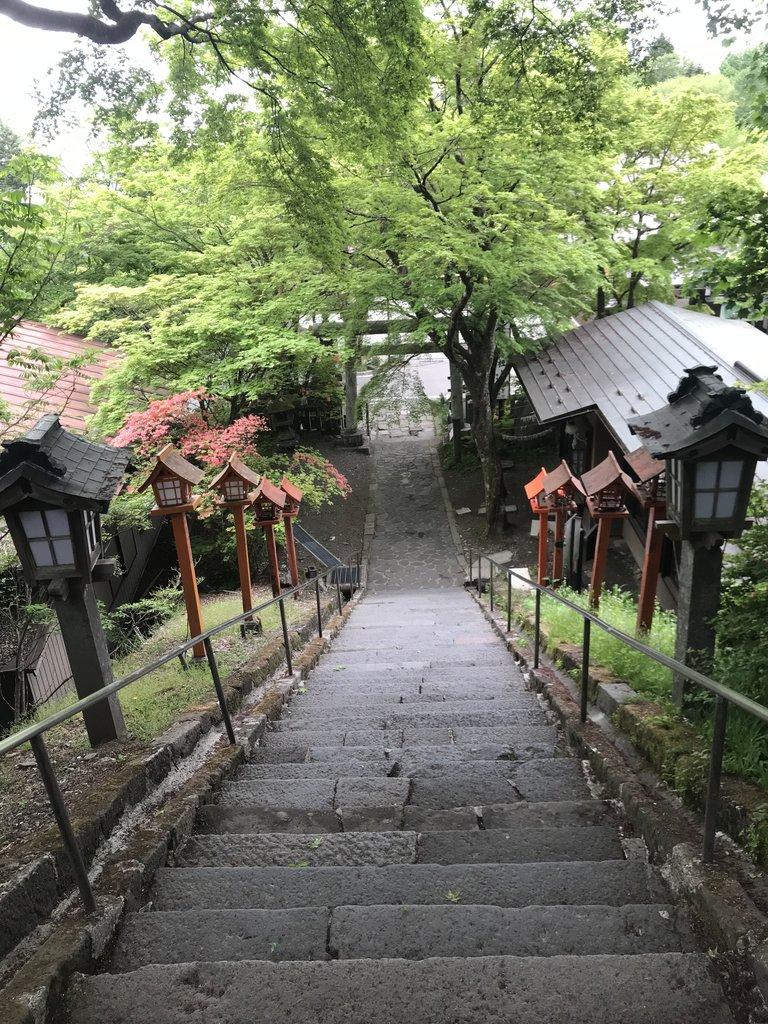 Steps of Kumano-jinja Shrine | Photo taken by Pui san C